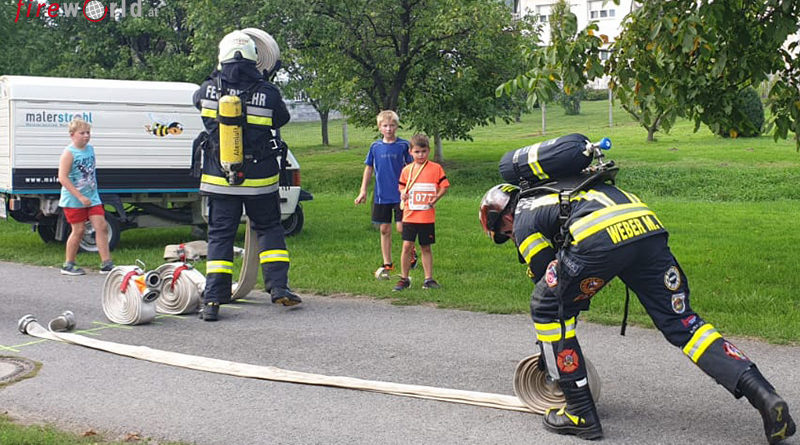 Bgld: Tagessieger beim Fire Fighter Run in Unterpetersdorf