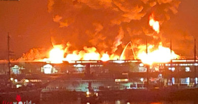 USA: 4. Alarm bei Großfeuer am Fisherman's Wharf in San Francisco