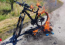 Oö: Brandeinsatz in Enns → E-Bike in Vollbrand